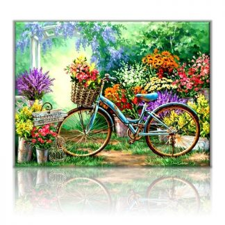 Flowers and Bicycle | Paint by Numbers