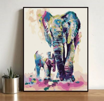 Colorful Elephant   Paint by Numbers Malaysia