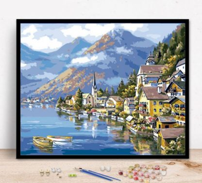 Switzerland Landscape   Paint by Numbers Malaysia