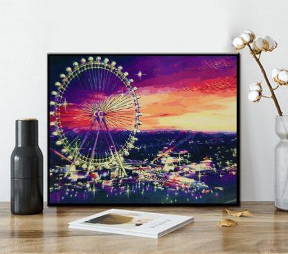London Eye in Evening