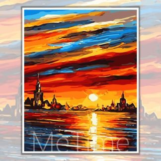 Beautiful Sunset Paint by Numbers