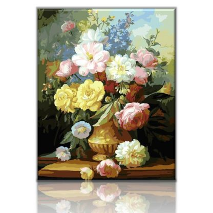 A bouquet of summers flowers | Paint by numbers Malaysia