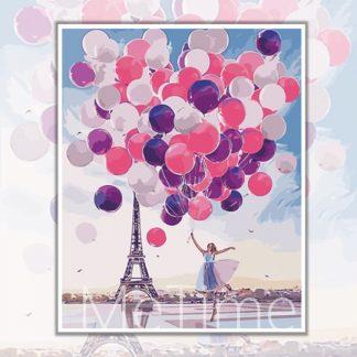 Balloons at Eiffel Tower Paris