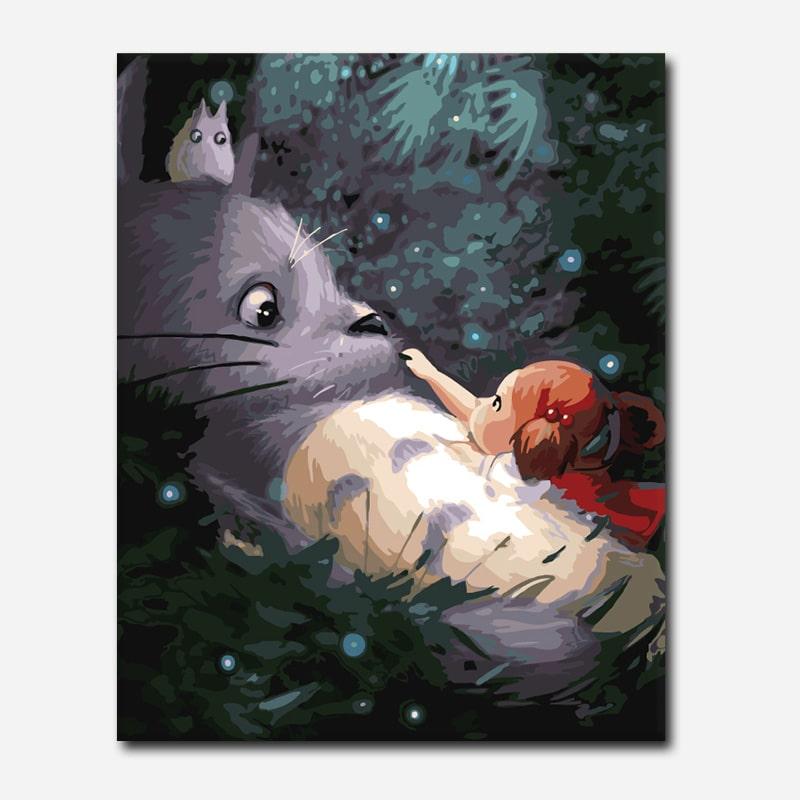 Totoro and girl