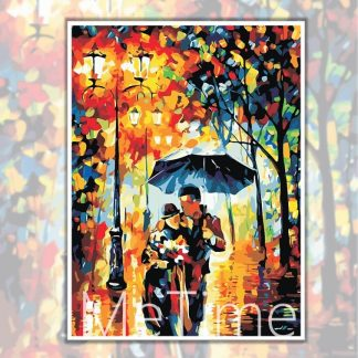 Rainy Night Couple