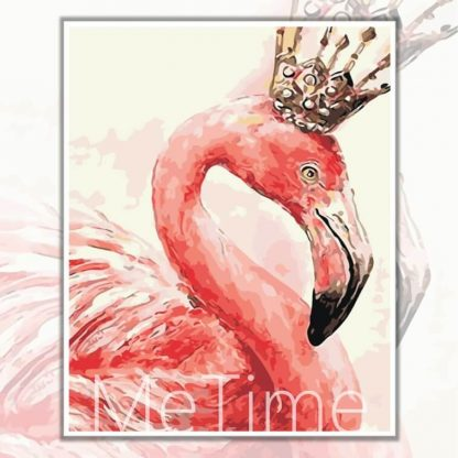 Flamingo with Crown