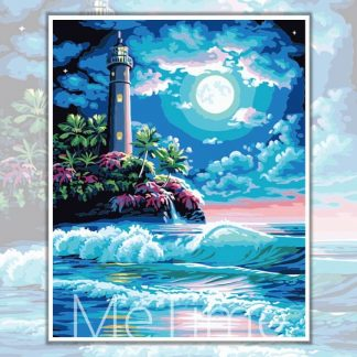 Full Moon Lighthouse