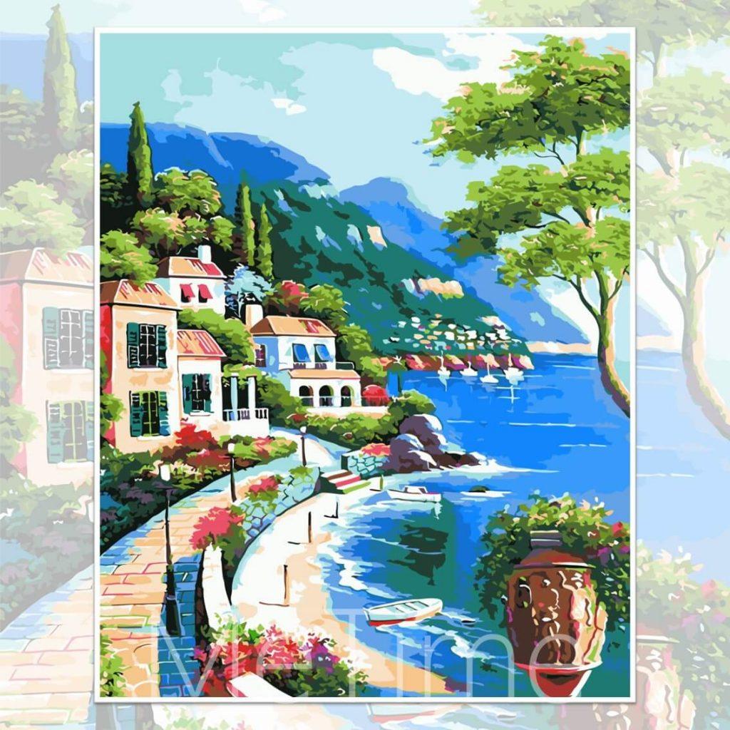 Peaceful Seaside Town